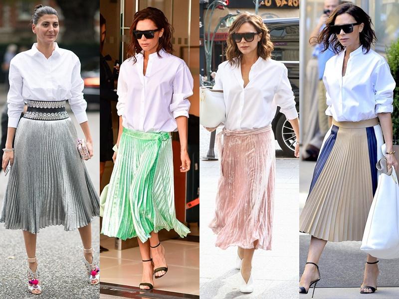 Как звёзды носят белую рубашку - Плиссированная юбка
