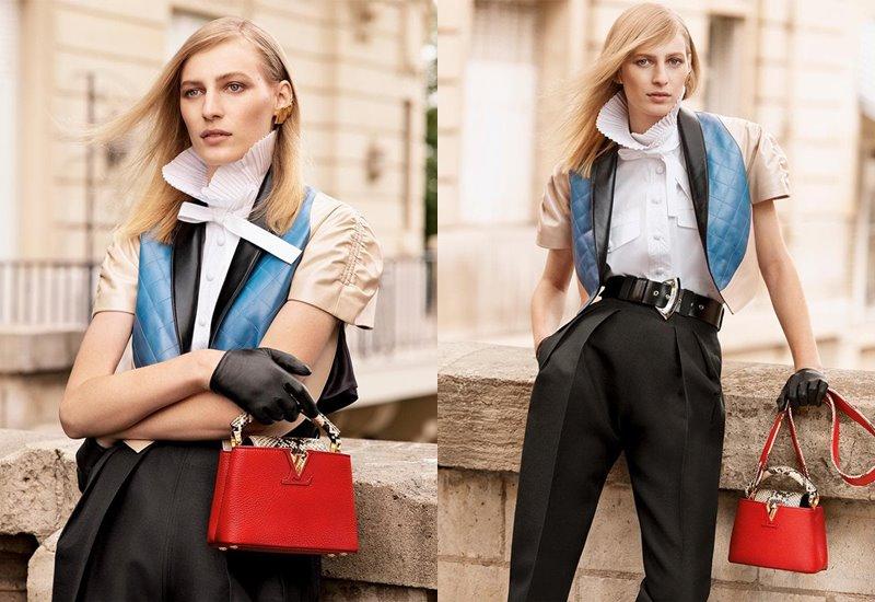 Рекламная кампания коллекции сумок Louis Vuitton Capucines осень-зима 2019-2020 - фото 1
