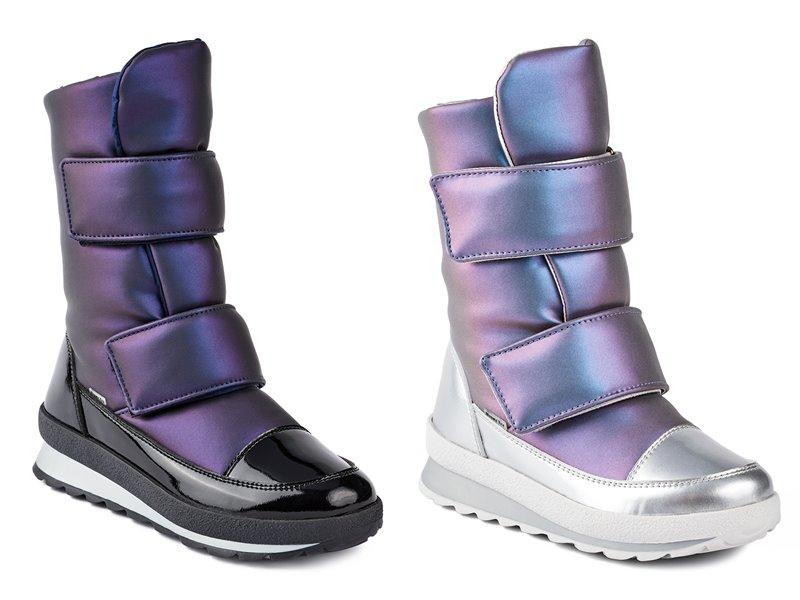 Синий и лиловый металлик: новые цвета в коллекции обуви Jog Dog осень-зима 2019-2020 - фото 1