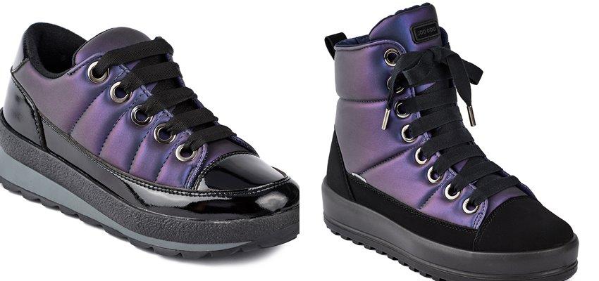 Синий и лиловый металлик: новые цвета в коллекции обуви Jog Dog осень-зима 2019-2020 - фото 2