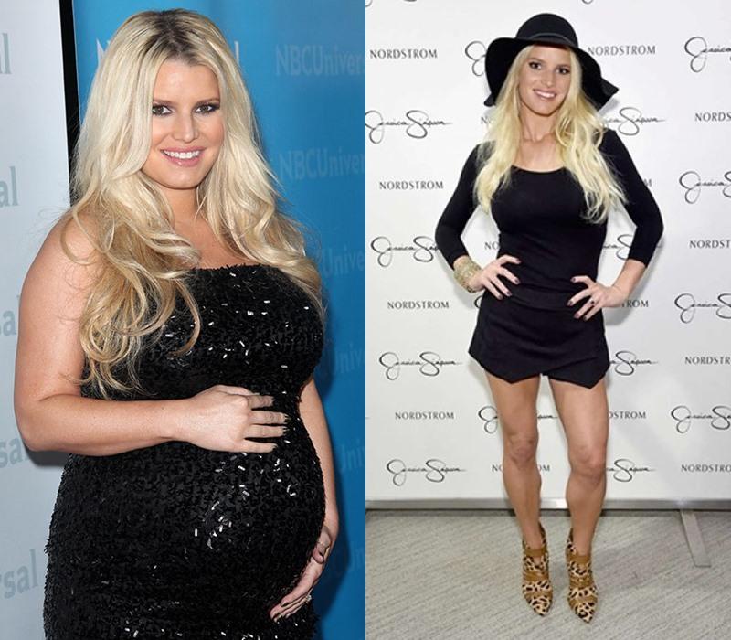 6 звёзд, которые сильно поправились во время беременности (быстро похудели после родов) - фото - Джессика Симпсон