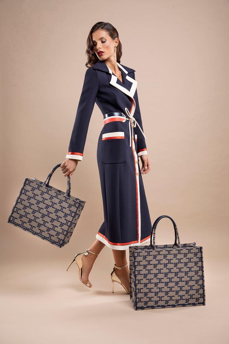 Новинка Elisabetta Franchi: сумка-шоппер Monogram - фото 2