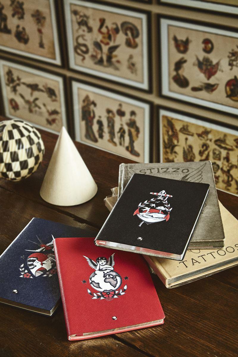 Коллекция ежедневников Montblanc x YOOX совместно с тату-мастером Stizzo