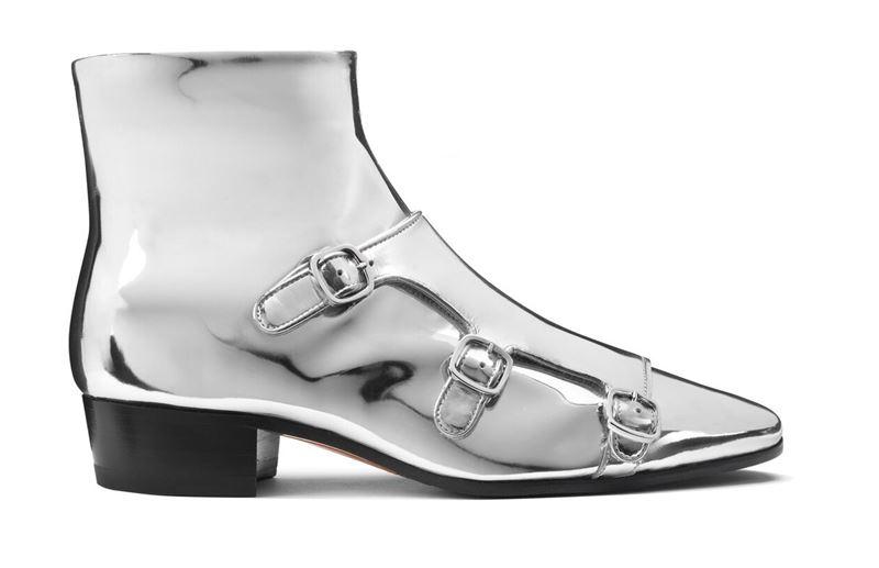 Новинка Santoni: серебристые ботинки из коллекции осень-зима 2019-2020 - фото 2