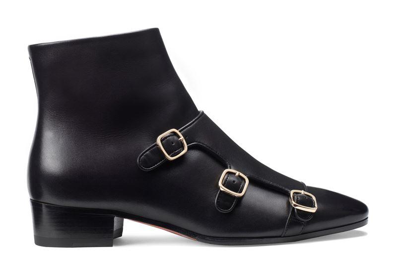 Новинка Santoni: чёрные ботинки из коллекции осень-зима 2019-2020 - фото 1