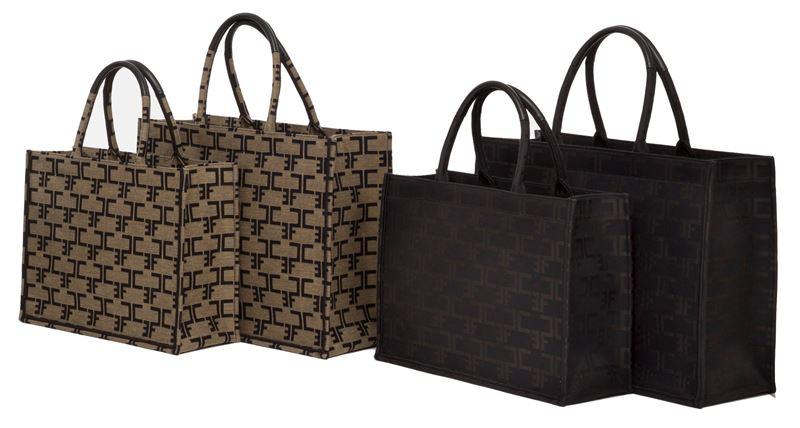 Новинка Elisabetta Franchi: сумка-шоппер Monogram - фото 5
