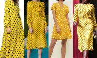 5 популярных цветов для модных платьев в горошек