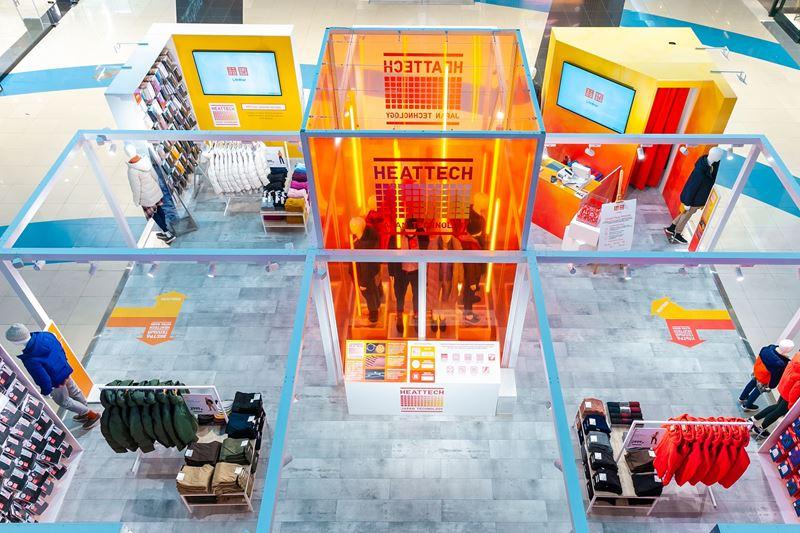 UNIQLO открыл поп-ап магазин HEATTECH в ТЦ Метрополис