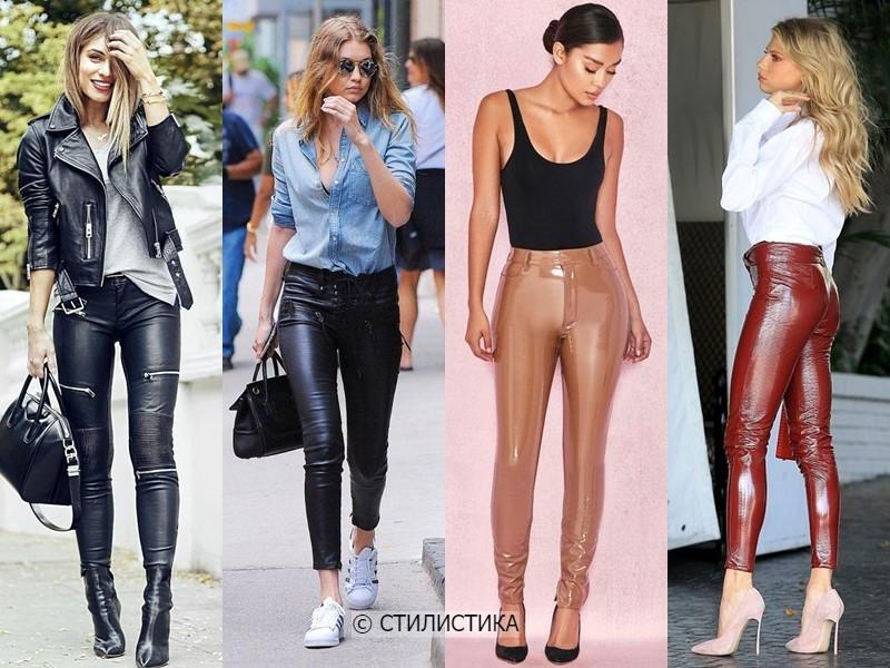 8 моделей брюк, которые полнят - Облегающие кожаные брюки