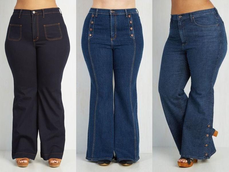 5 моделей джинсов, которые полнят - Расклешённые джинсы