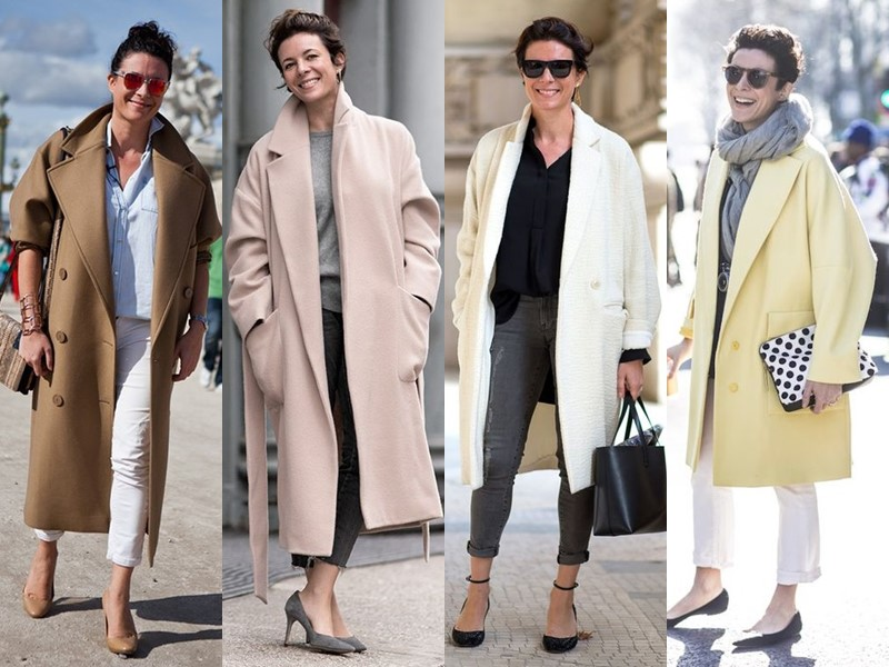 Французский стиль Гаранс Доре - Пальто оверсайз