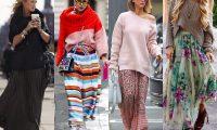 Как стильно носить длинную юбку макси весной и осенью: 5 модных сочетаний