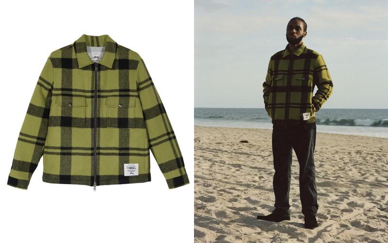 Мужская шерстяная куртка в клетку: streetwear-коллаборация Woolrich и калифорнийского бренда Stüssy