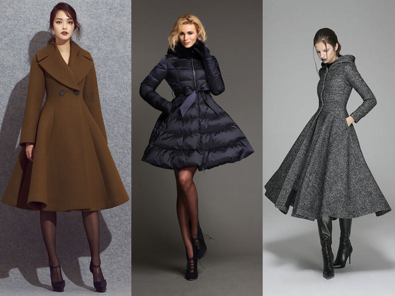 Слишком нарядно: 5 антитрендов - Пальто-платья и приталенные пуховики