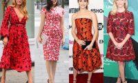 Звёздный стиль: платья с цветочным принтом
