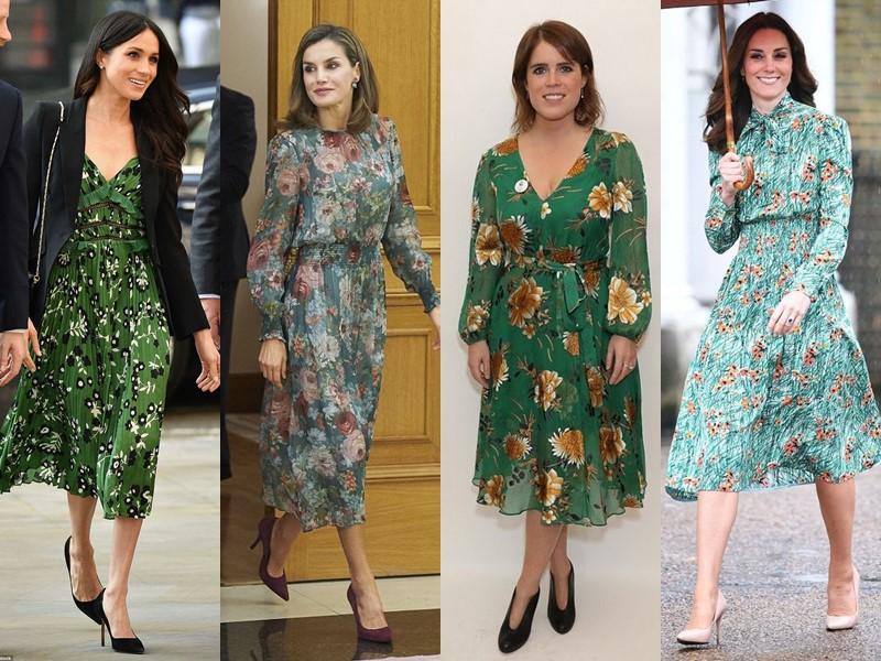 Звёздный стиль: платья с цветочным принтом - Зелёные