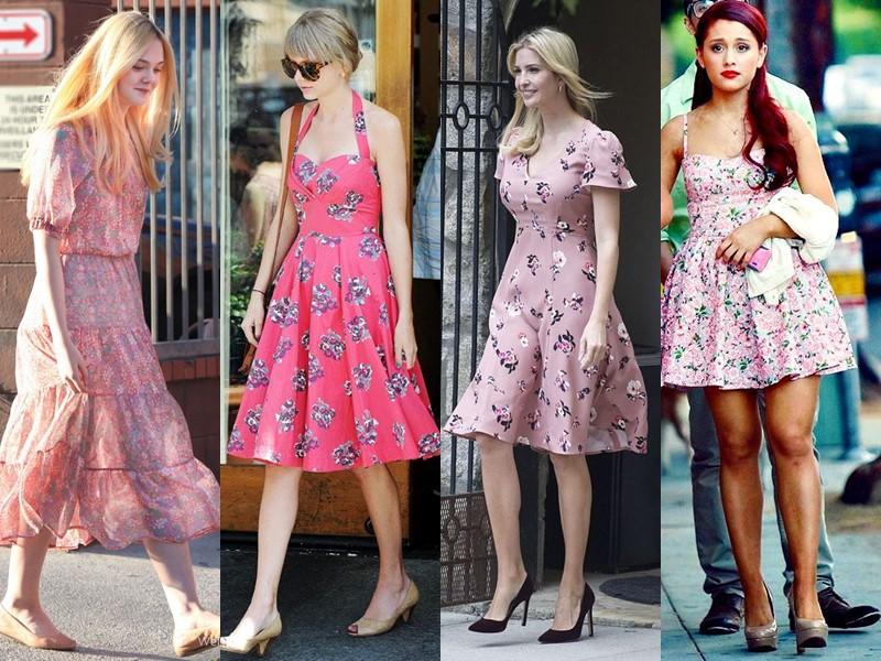 Звёздный стиль: платья с цветочным принтом - Розовые