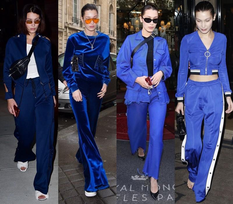 Стиль Беллы Хадид: цвета одежды - Яркий и насыщенный синий