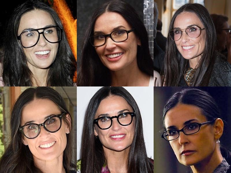 Какие очки носят знаменитости - Деми Мур