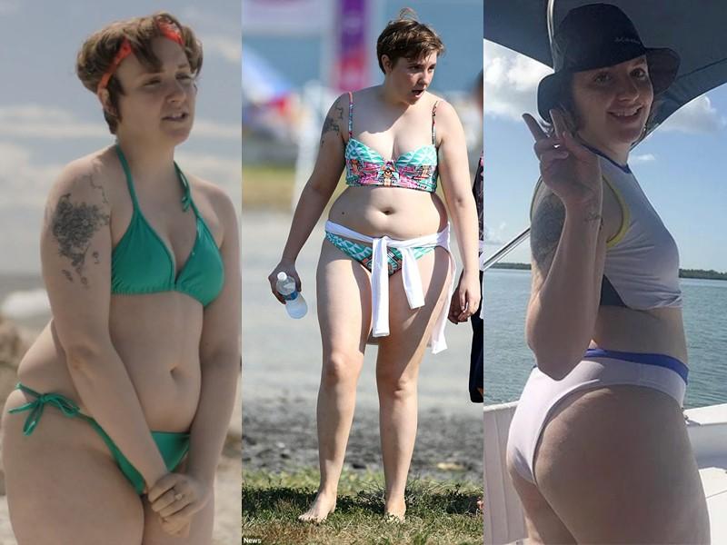 Бодипозитивные: знаменитости на пляже в купальниках - Лина Данэм