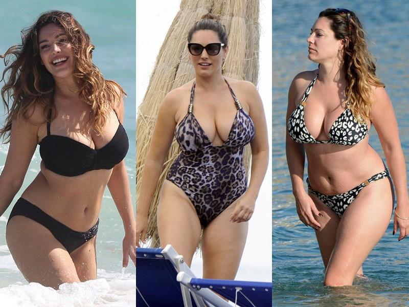 Бодипозитивные: знаменитости на пляже в купальниках - Келли Брук