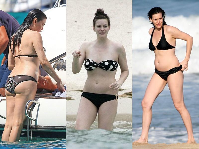 Бодипозитивные: знаменитости на пляже в купальниках - Лив Тайлер
