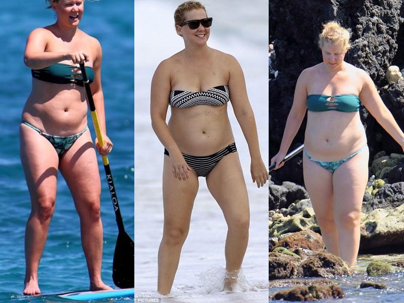 Бодипозитивные: знаменитости на пляже в купальниках - Эми Шумер