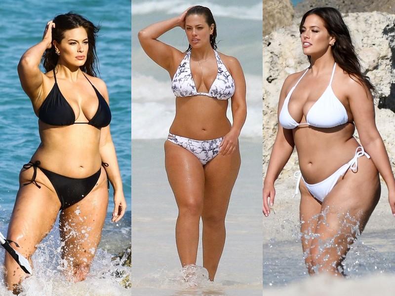 Бодипозитивные: знаменитости на пляже в купальниках - Эшли Грэм