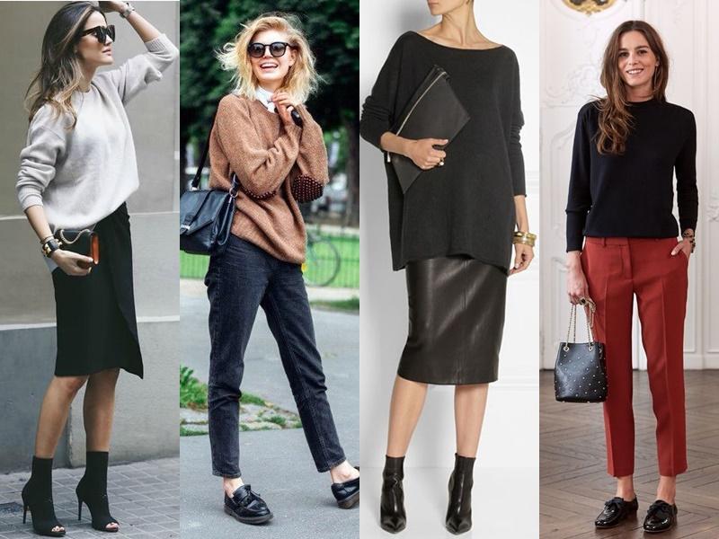 Французский шик: 10 деталей образа стильной парижанки - Простой трикотажный свитер