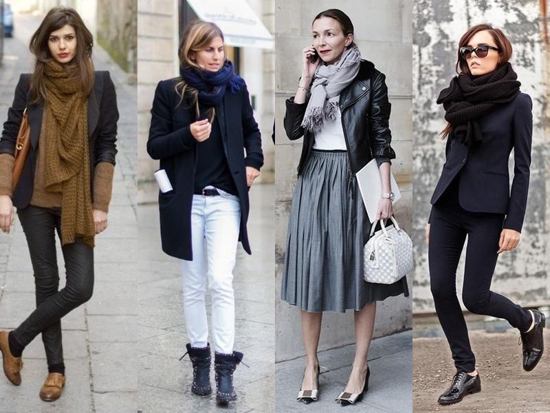 Французский шик: 10 деталей образа стильной парижанки - Стильный шарф