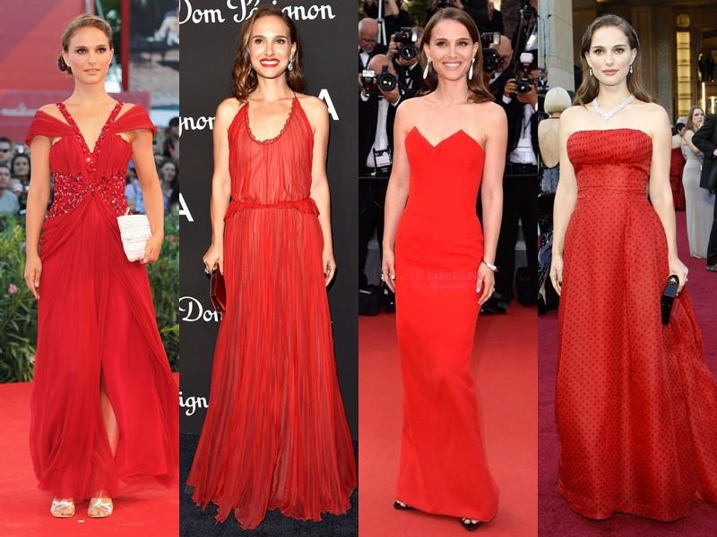 Стиль Натали Портман: платья с красной дорожки - Ослепительный красный