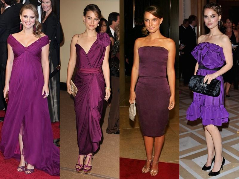 Стиль Натали Портман: платья с красной дорожки - Оттенки фиолетового