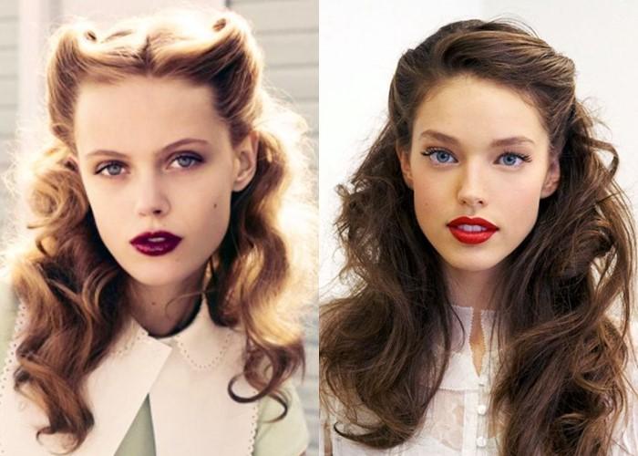 6 красивых ретро-причёсок из прошлого - фото - Крупные волны с объёмным верхом из 40-х