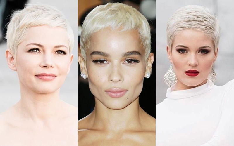 Стили причёсок для платиновых блондинок - Ультракороткая стрижка пикси