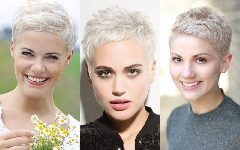 Стили причёсок для платиновых блондинок - стрижка пикси