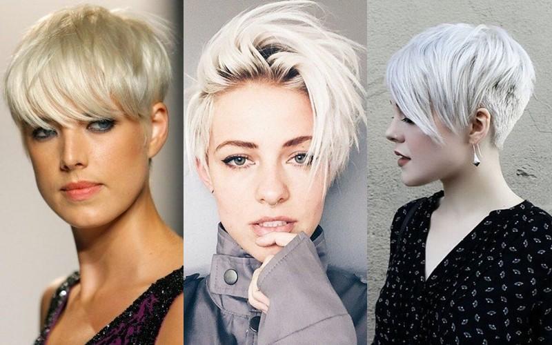 Стили причёсок для платиновых блондинок - Короткая стрижка в панк стиле
