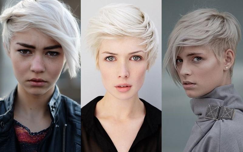 Стили причёсок для платиновых блондинок - стрижка в панк стиле