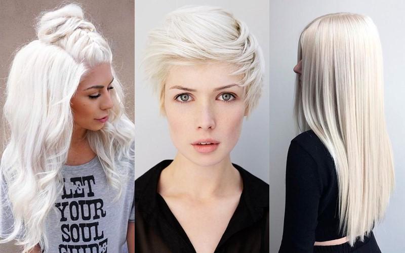 Белее белого: 7 идеальных стилей причёсок для платиновых блондинок