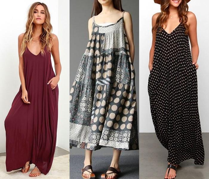 Свободные платья-оверсайз: модные фасоны - Длинные летние платья-сарафаны