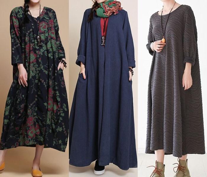Свободные платья-оверсайз: модные фасоны - Длинные и мешковатые платья-балахоны