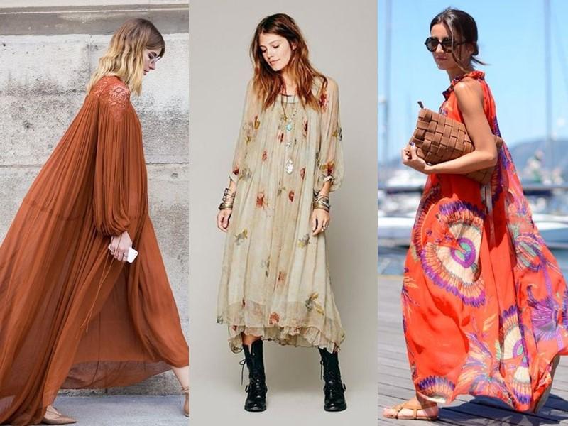 Свободные платья-оверсайз: модные фасоны - Длинные струящиеся платья