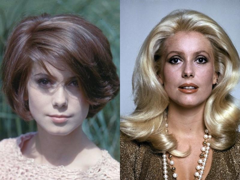 10 звёзд брюнеток и шатенок, которые прославились, став блондинками - Катрин Денёв