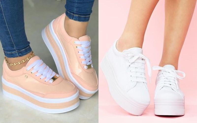 5 антитрендов в женской обуви 2020 - кеды и кроссовки на плоской платформе
