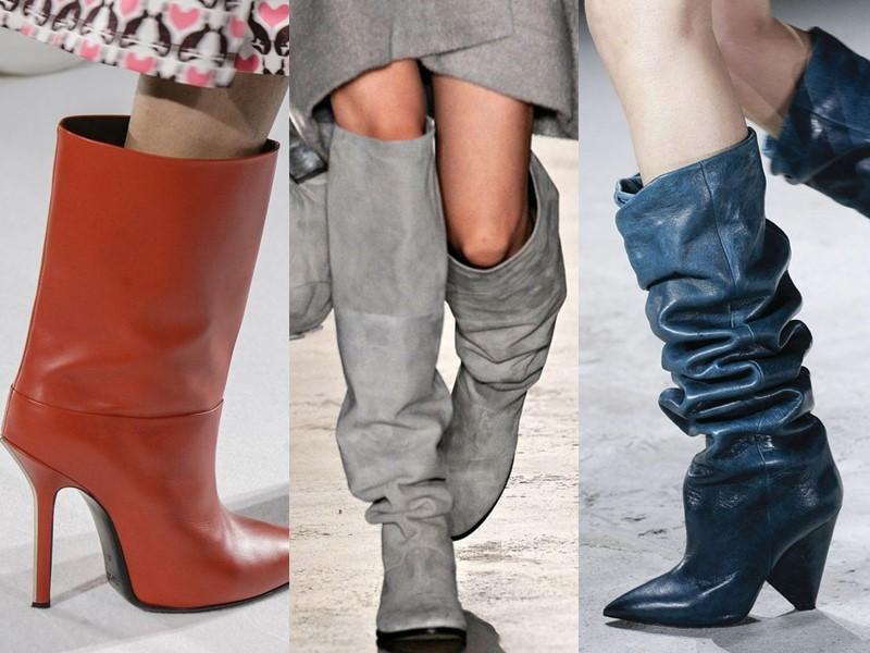 5 антитрендов в женской обуви 2020 - сапожки и ботильоны с просторным голенищем