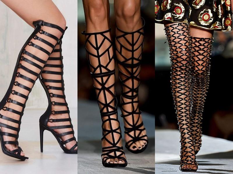 5 антитрендов в женской обуви 2020 - римские сапоги и сандалии