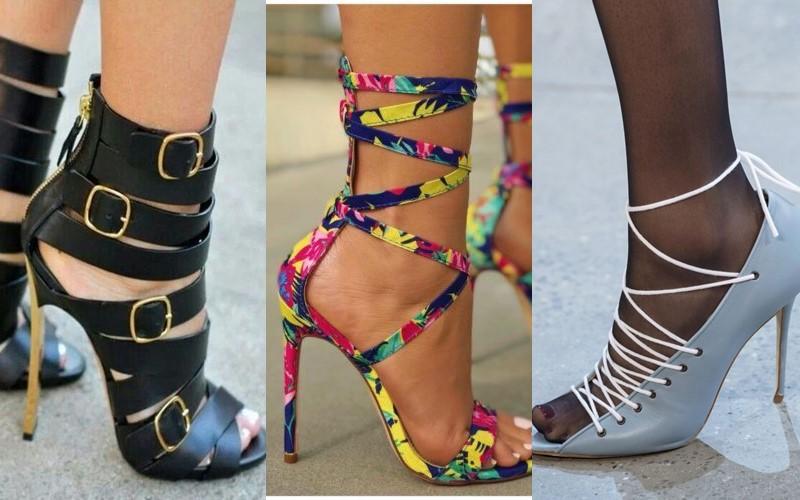 5 антитрендов в женской обуви 2020 - обувь с оригинальной шнуровкой и асимметричными ремешками