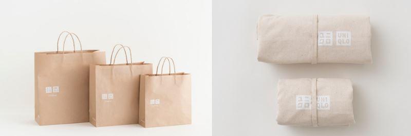 Бумажные пакеты и многоразовые сумки UNIQLO