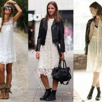 Брутальная женственность: как носить тяжёлую грубую обувь с платьем и юбкой