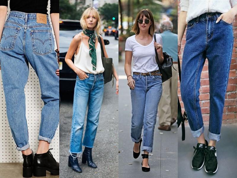 Популярные модели джинсов на все времена - Прямые джинсы в стиле 90-х или mom's jeans