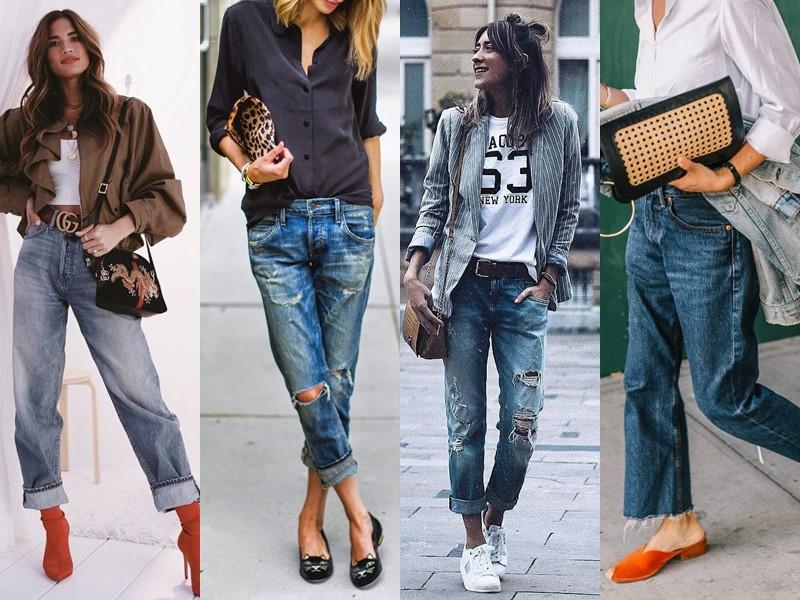 Популярные модели джинсов на все времена - boyfriend jeans